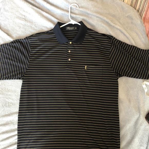 1beb242ec Yves Saint Laurent Shirts | Sale Nwot Ysl Mens Silk Polo Shirt ...